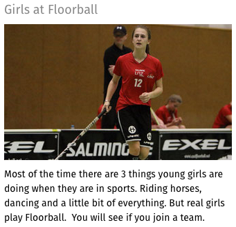 Girls to floorball